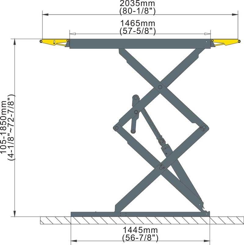 جک قیچی روکار 3/2 تن Ceegos مدل 301LP 5